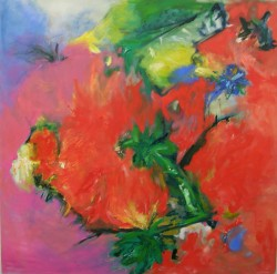 "Hummingbird""s Delight -   2008 Oil - 40"" x 40"""