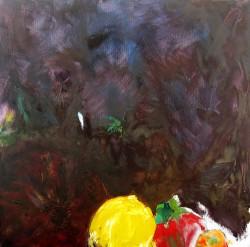 """Three Fruits - 2009 Oil - 36"""" x 30"""""""