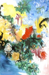 """In the Beginning -  2007 Oil -  '72"""" x 48"""""""