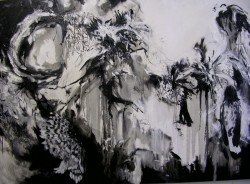 """Collateral Damage in Black -  2007 Oil - 48"""" x 72"""""""