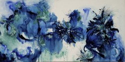 """Collateral Damage in Blue -  2007 Oil --36"""" x 72"""""""