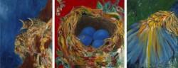 "Robin Triptych -  2006 Oil - 40 x 90"""