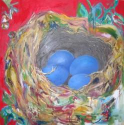 "Nest of Four -  2006 Oil - 40"" x 40"""