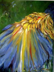 """Mother Wing -  2006 Oil - 40"""" x 30"""""""