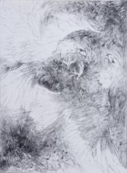 "Cirlcing -  2008 Graphite - 30"" x 22 """