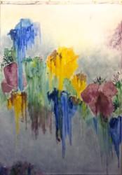 "Untitled Wash  2013-2014 oil  82"" x 60"""