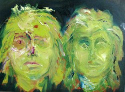 Two Green Faces -  2013