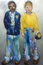 "Steve and Ben   2013   Oil -  48"" x  30"""