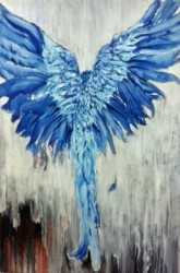 """Blue Phoenix    2012- 2013   Oil - 60"""" x 48"""""""