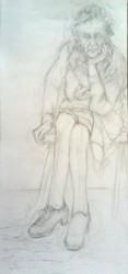 "Sadie   2013 Graphite    48"" x 22"
