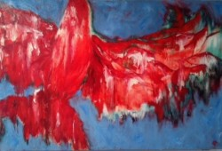 "Firebird  2013  Oil 30"" x 40"""