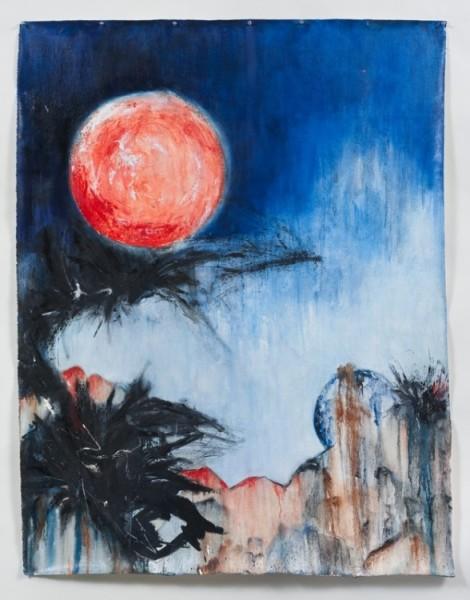 "La Luna Roja - 60""x48"" 2014"